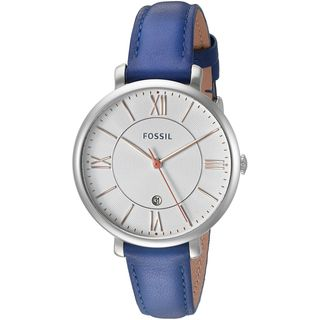 Fossil Women's ES3986 'Jacqueline' Blue Leather Watch