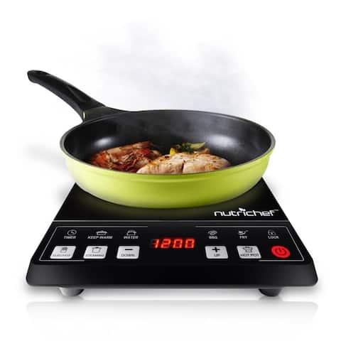 NutriChef PKST14 Ceramic Induction Cooktop Black Electric Countertop Glass Burner Cooker