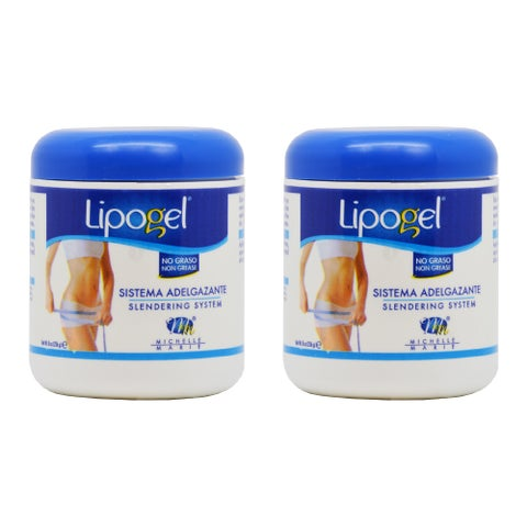 Lipogel Caffeine Slimming and Slendering System 8-ounce Cream (Pack of 2)