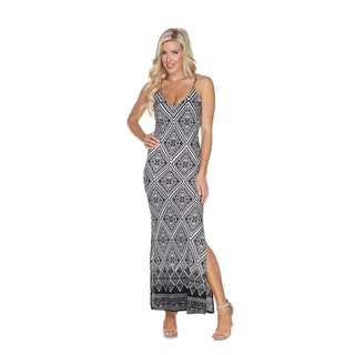 White Mark Women's Nila Aztec Print Maxi Dress