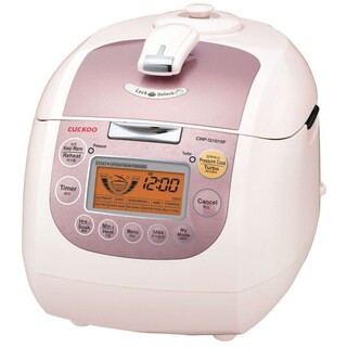 Cuckoo CRP-G1015F 10-Cup Electric Pressure Rice Cooker, 110v, Pink