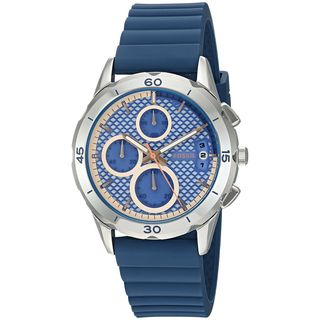 Fossil Women's ES3982 'Modern Pursuit' Chronograph Blue Silicone Watch