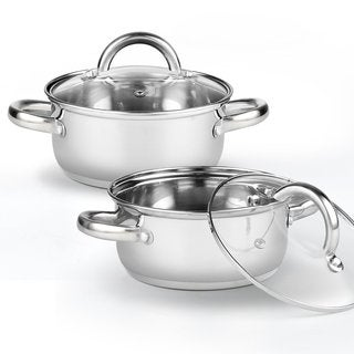 Cook N Home 02479 1.5-quart 5.5-inch Stainless Steel Tapas Pan Set