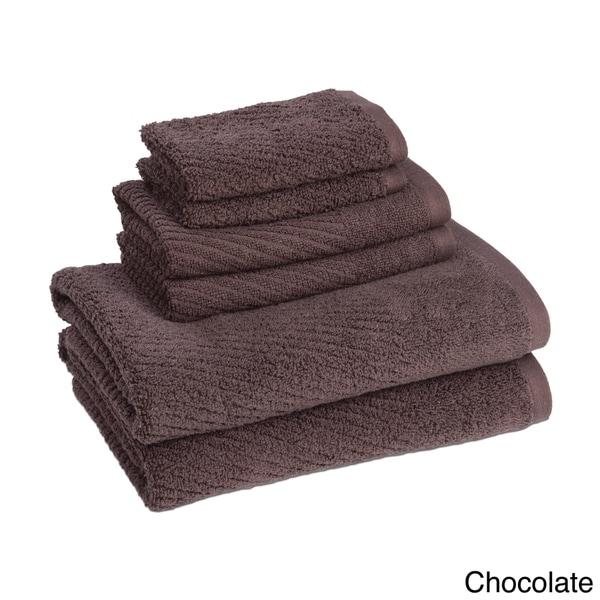 Quick Dry Solid Color 6-piece Cotton Towel Set