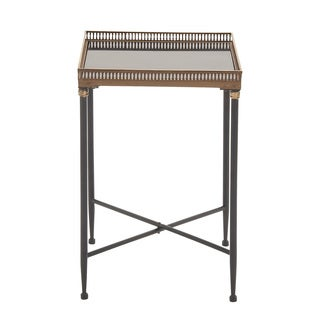 Metal Marble Tray Table