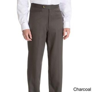 Sansabelt Men's 'Bing' 100-percent Natural Stretch Polyester Mini Check Top Pocket Classic-cut Dress Pant