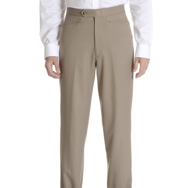 Sansabelt Men's 'Bing' 100-percent Natural Stretch Polyester Mini Check Top Pocket Classic-cut Dress Pant