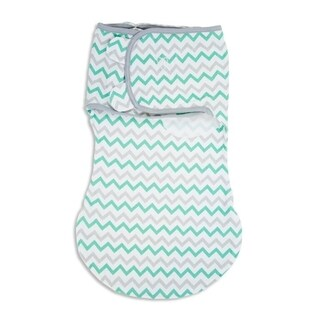 Summer Infant SwaddleMe Teal/Grey Chevron Small WrapSack