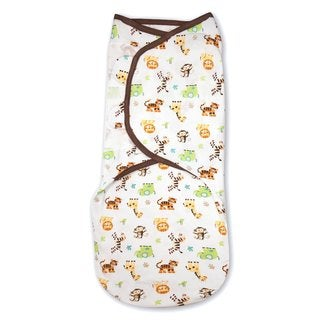 Kiddopotamuz Graphic Jungle Small/Medium Cotton Knit SwaddleMe