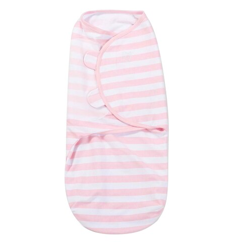 Summer Infant Pink Cotton Small/Medium Striped SwaddleMe Knit