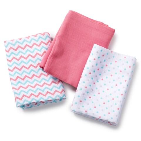 Summer Infant Multicolored Muslin Zigzag Blanket (Pack of 3)