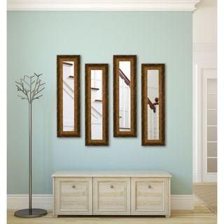 American Made Rayne Tarnished Bronze Panel Mirrors