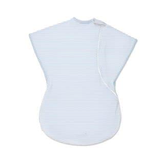 Summer Infant Striped Blue Large ComfortMe Cotton Wearable Blanket