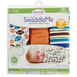 Summer Infant Touchdown Small SwaddleMe (Pack of 3)