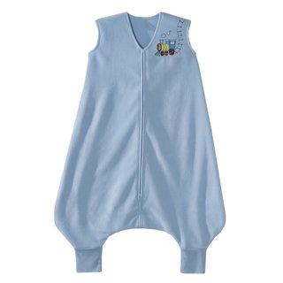 Halo SleepSack Blue Fleece Train Early Walker Large Micro Blanket
