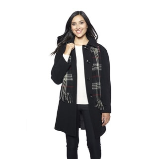 London Fog Women's Raglan Scarf Coat