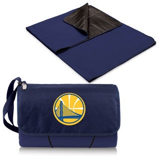 Picnic Time Golden State Warriors Navy Blanket Tote