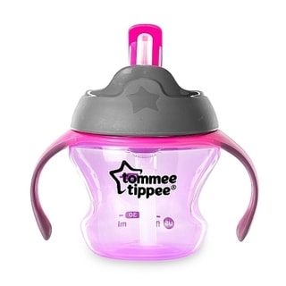 Tommee Tippee First Straw Purple Plastic 5-ounce Transition Cup