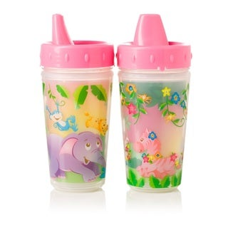 Evenflo Zoo Friends Pink 10-ounce Insulated Sippy Cups (Set of 2)