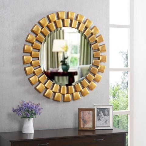 "Hera Gold Wall Mirror - 36"" Dia."