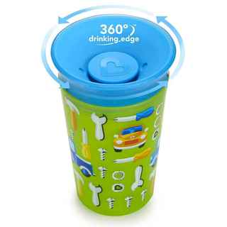 Munchkin Miracle Cup Green Car 9-ounce Plastic Sippy Cup