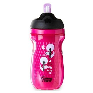 Tommee Tippee Purple Plastic Insulated 9-ounce Straw Tumbler