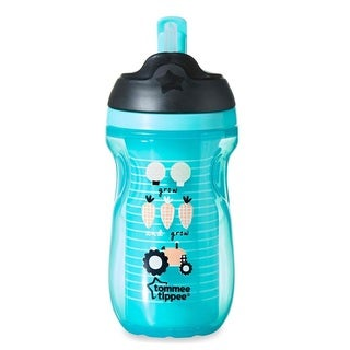 Tommee Tippee Green Plastic 9-ounce Insulated Straw Tumbler