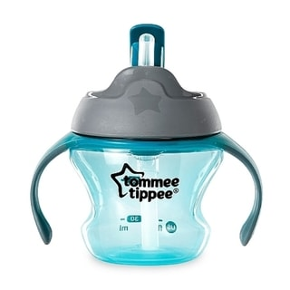Tommee Tippee Aqua Plastic 5-ounce First Straw Transition Cup