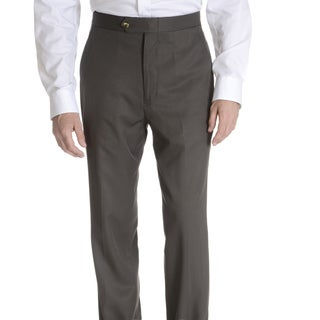 Sansabelt Men's 'Grant' 100 percent Natural Stretch Polyester Mini Check Side Pocket Classic Cut Dress Pant