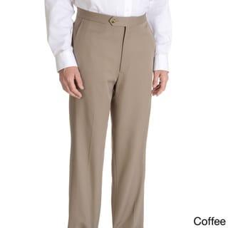 Sansabelt Men's 'Grant' 100 percent Natural Stretch Polyester Mini Check Side Pocket Classic Cut Dress Pant