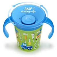 Munchkin Miracle Cup Green Plastic 6-Ounce Car Deco Trainer
