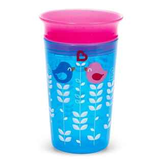 Munchkin Miracle Cup Blue Plastic 9-ounce Bird Deco Sippy Cup