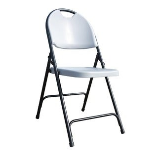 Ares Grey Folding Chairs with Carrying Handles (Set of 4)