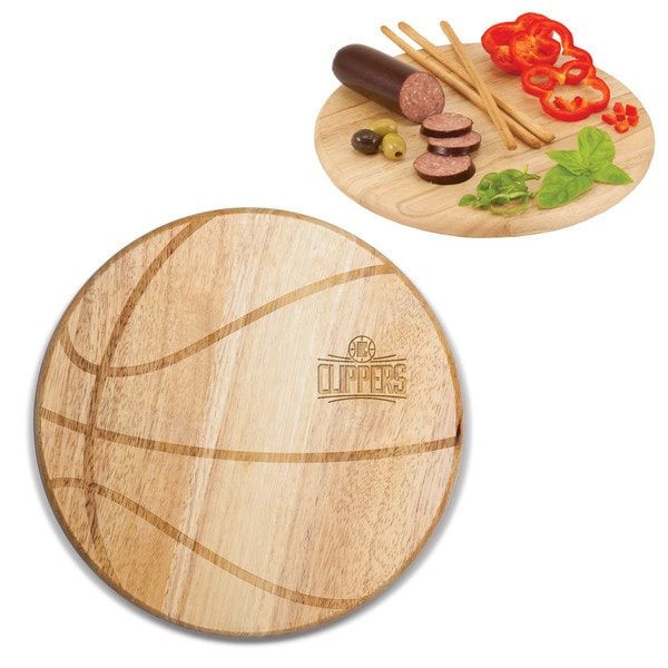 Picnic Time Los Angeles Clippers Free Throw Wood Cutting Board