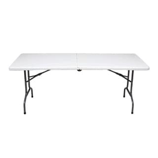 Ares Fold-n-roll White Metal 60.04-inch x 27.95-inch Dining Table