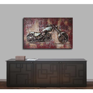 Benjamin Parker 'Born to Ride' Wood and Metal 48-inch Wall Art