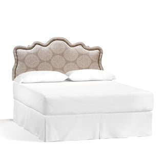 Galaxy LE-738611-32 Fabric and Wood Queen-size Headboard With Bronze Nailhead
