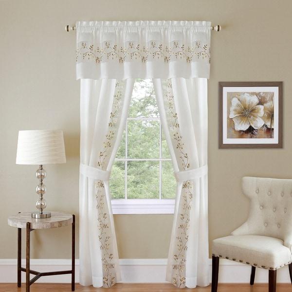 Achim Fairfield 5-piece Window Curtain Set