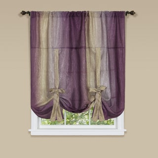 Ombre Window Curtain Tie-up Shade