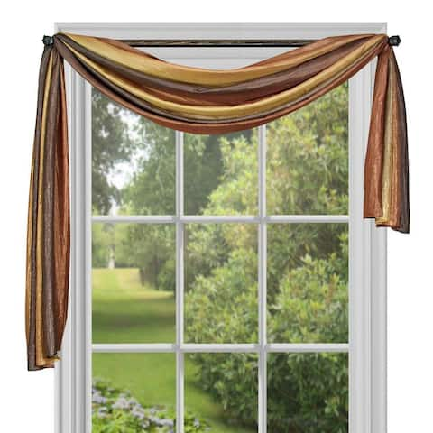 Achim ACHIM Ombre Window Curtain Scarf