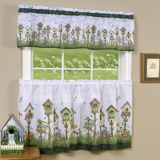 Achim Home Sweet Home Printed Tier and Valance set