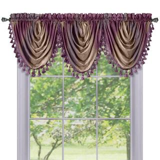 Ombre Window Multicolored Polyester Curtain Waterfall Valance
