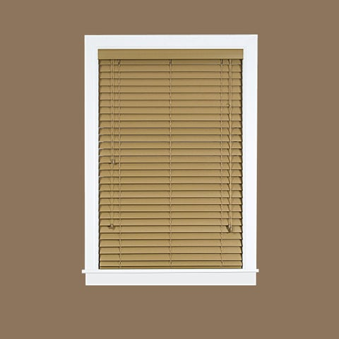 Achim Madera Falsa Brown Faux Wood 2-inch Blind
