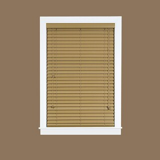 Madera Falsa Brown Faux Wood 2-inch Plantation Blind