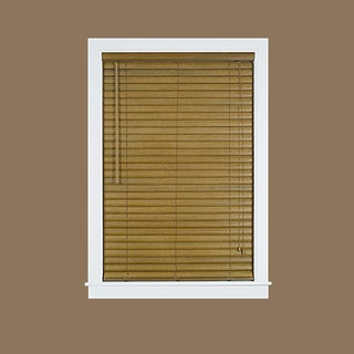 Luna Woodtone 2-inch Brown Vinyl Venetian Blind