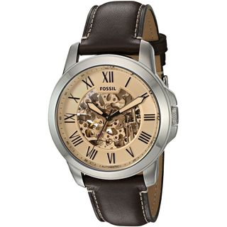 Fossil Men's ME3122 'Grant' Automatic Brown Leather Watch