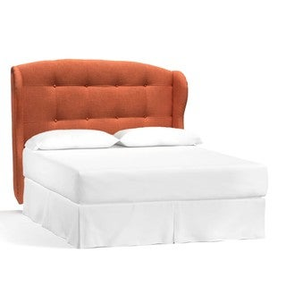 Galaxy SH-73715-25 Coral Fabric and Wood Botton Tufted Queen Size Headboard