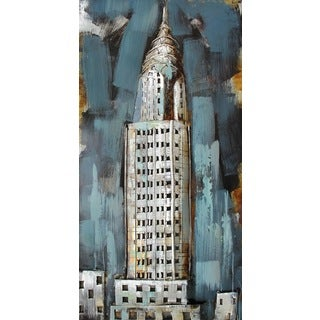 Benjamin Parker 'Empire State' 48-inch Raised Metal Wall Art