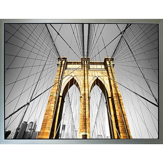 Benjamin Parker 'Brooklyn Bridge Strong' 42-inch Framed Canvas Wall Art