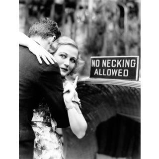 Benjamin Parker 'No Necking Allowed' 36-inch Canvas Wall Art